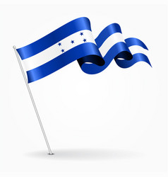 Honduras pin wavy flag vector