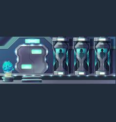 Human cloning laboratory cartoon concept vector