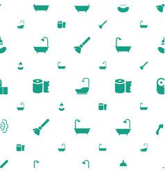 Hygienic icons pattern seamless white background vector