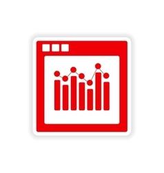 Icon sticker realistic design on paper chart vector