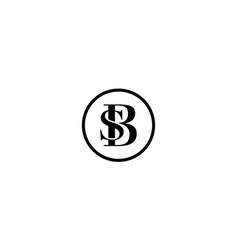 Initial letter b and s with circle logo vector