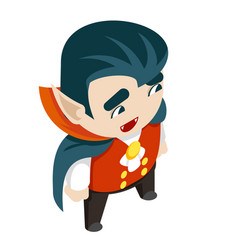 isometric vampire boy costume halloween children vector image