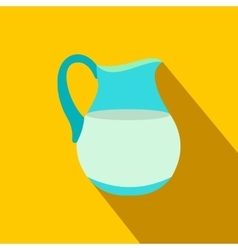 Jug of milk flat icon vector image