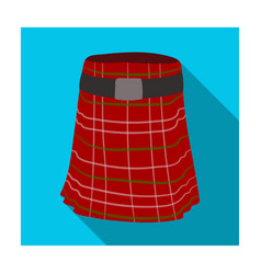 kilt icon in flat style isolated on white vector image