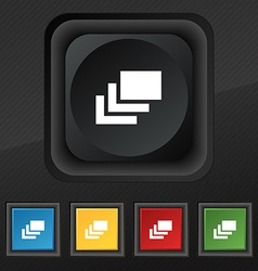 Layers icon symbol Set of five colorful stylish vector