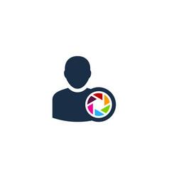 lens user logo icon design vector image