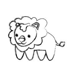 lion infantile cartoon animal vector image