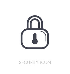 lock icon concept password blocking security vector image