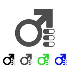 male erection pills icon vector image