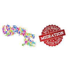 Migration composition mosaic map baffin vector