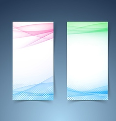 Modern transparent vertical smooth wave card vector image