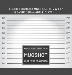 Mugshot template police lineup board vector
