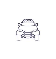 Off-road 4x4 suv line icon vector