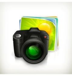 Photo icon vector image