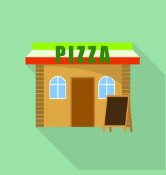 pizza street shop icon flat style vector image