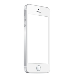 Realistic white mobile iphone 5s vector