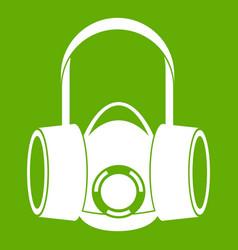 respirator icon green vector image