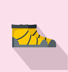 river boots icon flat style vector image