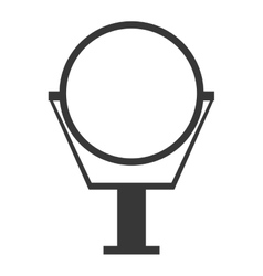 Round mirror icon vector