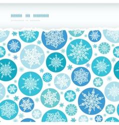 Round Snowflakes Horizontal Torn Seamless Pattern vector