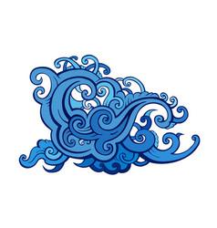 sea waves set vector image