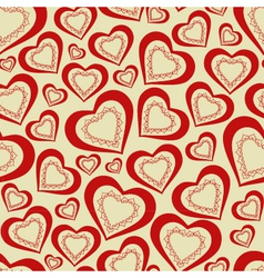 seamless pattern hearts for Valentines Day vector image