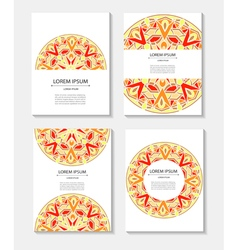 Set templates business cards and invitations with vector image