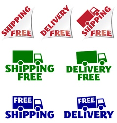 Shipping free delivery free icons vector