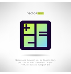 Simple calculator icon im modern design vector image