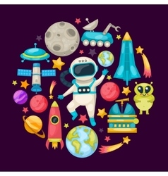 Space Colored Composition vector image