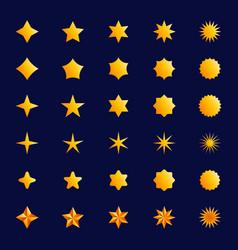 star symbol set yellow gradient graphic elements vector image