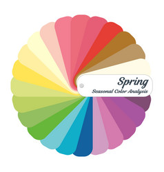 Stock color guide seasonal color analysis vector
