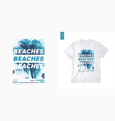 summer graphic t-shirt design tropical print vector image