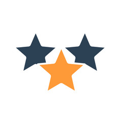 Three stars customer review colored icon rating vector