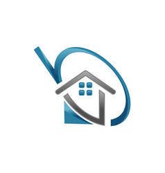 unique home estate logo icon vector image