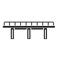 viaduct bridge icon simple style vector image