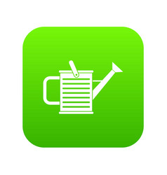 watering can icon digital green vector image