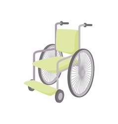 Wheelchair icon cartoon style vector