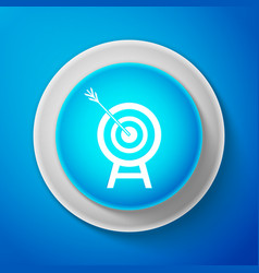 white target with arrow icon dart board sign vector image