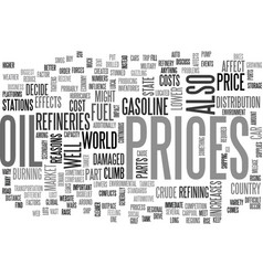 Why fuel prices go up text word cloud concept vector