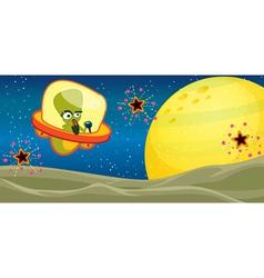 Alien Cartoon Background vector image