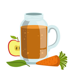 apple and carrot smoothie non-alcoholic fresh vector image vector image