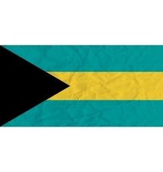 Bahamas paper flag vector image