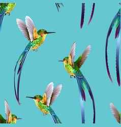 beautiful seamless tropic exotic jungle pattern vector image