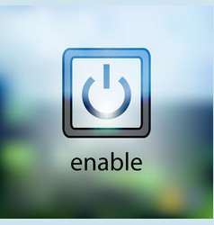 computer power button icon on the blurred vector image