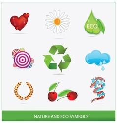 glass ecology green symbols set isolated vector image