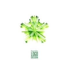 Green futuristic Star vector image vector image