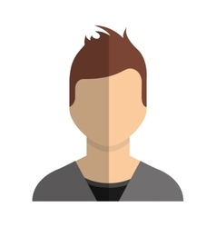 man male avatar line icon vector image