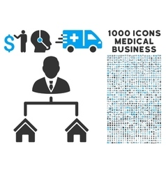 Realty Manager Icon with 1000 Medical Business vector image vector image