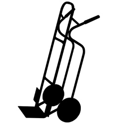 Sack trolley vector image vector image